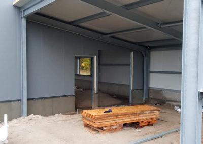 Hallenaufbau in Aurich