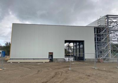 Hallenaufbau in Ludmin